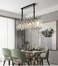 MARIOTA Chandelier — Best Goodie Shop #MARIOTA #modernchandeliers #chandelierdesign #uniquechandeliers #colorfulchandelier #chandelierroom #chandelierideas #bestgoodieshop #livingroomchandeliers #lightchandelier #chandelierdecor #diningchandelier #chandelierbedroom #entrywaychandelier #officechandelier #pendantchandelier #glasschandelier Rectangular Chandelier, Black Chandelier, Chandelier Lighting, Chandelier Bedroom, Chandeliers, Kitchen Island Chandelier, Dining Room Design, Dining Rooms, Light Fixtures