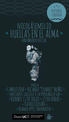 """Lanzamiento del disco """"Huellas en el Alma"""" de Nicolás Emilio en @CousinoDuocUC #valpo"""