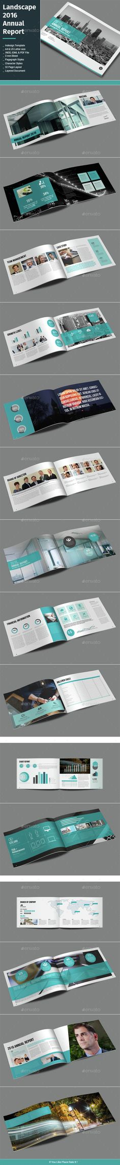 Landscape 2016 Annual Report Template PSD. Download here: http://graphicriver.net/item/landscape-2016-annual-report/14999264?ref=ksioks