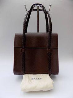 Sale BALLY Vintage Brown Leather Handbag. Authentic designer Brown Leather  Handbags 427d32cf2a36d