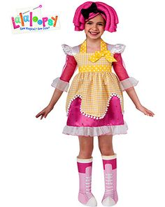 Deluxe Lalaloopsy Crumbs Sugar Cookie Costume for Girls - Girls Cartoon Characters Halloween Costumes