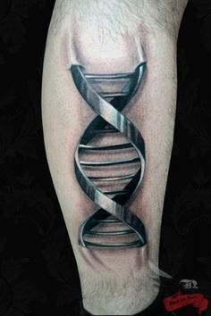 And a three-dimensional DNA tattoo for Science Nerds! Done at Black Ink Studio