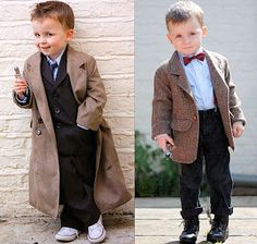 Mini 10th and 11th Doctors - this will be my children someday.