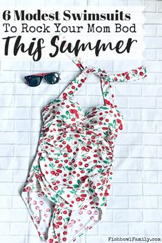 Shopping for a bathing suit doesn't have to be tough. With this list of the 6 best modest swimsuits, you'll be ready to hit the pool in 2 business days! Modest Swimsuits, Modest Dresses, Christian Homemaking, Christian Parenting, Pastors Wife, Post Baby Body, Church Outfits, Free Clothes, Mom Style