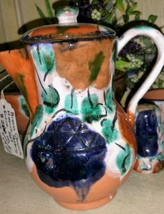 Vintage Brena Oaxaca Mexican Pottery Entire Set Artist Signature on each piece…