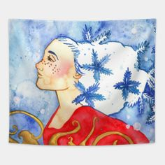 Tapestries by fairychamber Wall Tapestries, Tapestry, Whimsical Art, Disney Characters, Fictional Characters, Aurora Sleeping Beauty, Illustration Art, Disney Princess, Christmas