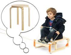 Tabouret Ikea Frosta Transformé en Draisienne pour Enfant (vidéo)