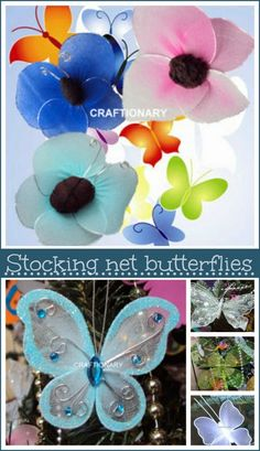 Stocking net butterflies made easy with nylon and stockings. Use this tutorial to make butterflies with nylon and stocking net. Step-by-step instructions...