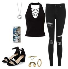 """""""Untitled #83"""" by findthefinerthings ❤ liked on Polyvore featuring Miss Selfridge, Topshop and Elsa Peretti"""