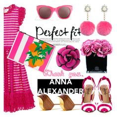 """""""Hot pink love"""" by pensivepeacock ❤ liked on Polyvore featuring Valentino, Chanel, Elizabeth and James, TaylorSays, Hervé Gambs and annaalexanderlondon"""