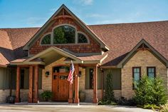 Our Asheville Mountain Floor Plan is our most popular floorplan. It is a Craftsman Style Mountain House Plan with Rustic details and a large rear porch.