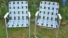 Aluminum Webbed Folding Lawn Chairs for Sale Metal Furniture, Home Furniture, Furniture Design, Outdoor Furniture, Lawn Chairs, Outdoor Chairs, Outdoor Decor, Aluminum Metal, Aluminium