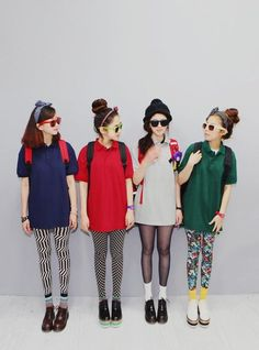 These girls look so cool. Hey legging envy