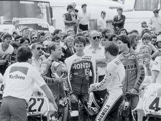 Kenny Roberts, Freddie Spencer, Randy Mamola & Eddie Lawson.