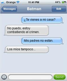 Mensaje de Batman →  #humorgrafico #imagenesgraciosas #memesenespañol #memesparafacebook #ragecomics