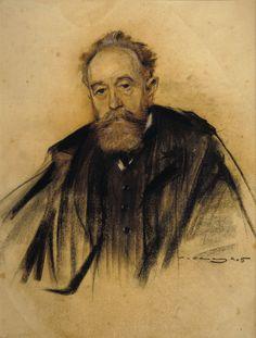 artista: Ramón Casas retrato de Aureliano Beruete