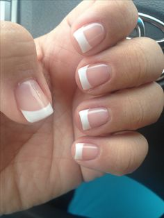 Classic French Tip gel nails :)