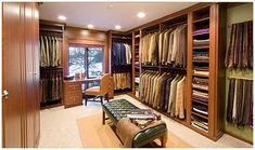 His closet. #luxurycloset