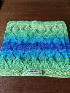 "Køkken/karklud ""Rombie"" – Handmade by sannes-web. Knit Crochet, Crafty, Blanket, Rugs, Knitting, Handmade, Diy, Clothes, Design"