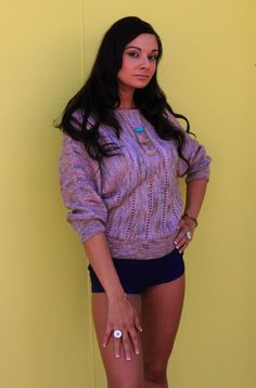 1980's Vintage Lilac Dolman Open Knit Sweater Size Small from See Fancy Love on Storenvy