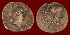 *EGYPT~ANTONY & CLEOPATRA COIN ~ from Bethsaida! CLEOPATRA: was the last active pharaoh of Ptolemaic Egypt,shortly survived as pharaoh by her son Caesarion.After her reign,Egypt became a province of the then-recently established Roman Empire.