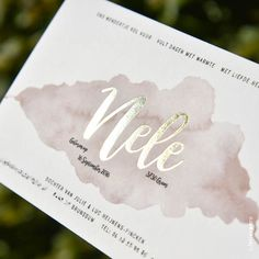 Geboortekaartje Nele - Letterpers.nl Baby Invitations, Invitation Cards, Baby Announcement Cards, Boy Illustration, Baby Birth, Baby Cards, Hang Tags, Little Babies, Letterpress