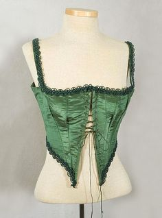 Silk taffeta Swiss waist, 1870s, from the Vintage Textile archives.