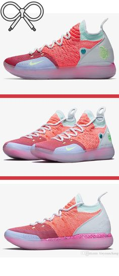 online retailer e96d2 57962 Pink, purple, and blue designer basketball shoes that represent the Elite  Youth Basketball League