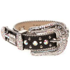 BB Simon Dog Collar - Black with Large Buckle and Crystals............available at http://doggyinwonderland.com/item_2335/BB-Simon-Dog-Collar--Black-with-Large-Buckle-and-Crystals.htm