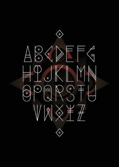 An experimental typeface inspired in the origins of magic, previously designed for a live visual for the mexican band.