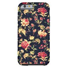Romantic Elegant Vintage Floral Rose Tough iPhone 6 Case  | Visit the Zazzle Site for More: http://www.zazzle.com/?rf=238228028496470081 [Referral Link]
