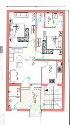 2 Storey House Design, House Front Design, Small House Design, 20x30 House Plans, 3d House Plans, House Map, House Elevation, Home Hacks, Floor Plans