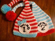 Crochet Thing 1 & Thing 2  MUST MAKE!!
