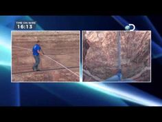 Aerialist Nik Wallenda crosses the Little Colorado River Gorge near the Grand Canyon on Sunday June 23, 2013. 1500 feet above the river and achieved in under 23 minutes.