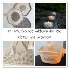 22 #Home #Crochet Patterns for the Kitchen and Bathroom - great gift ideas