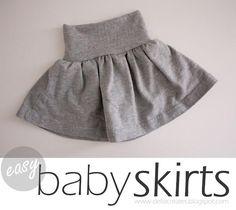 DIY Clothes Refashion: DIY Easy Baby Skirts DIY Clothes DIY Refashion DIY Sew