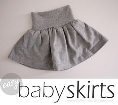 DIY Baby Skirts. This one looks really simple and is definitely something I want to try.