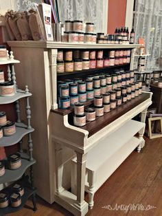 Let me share a few examples of easy piano makeovers and a few repurposed pianos. I've also shared my own simple piano makeover. Repurposed Furniture, Shabby Chic Furniture, Furniture Decor, Geek Furniture, Bohemian Furniture, Refurbished Furniture, Furniture Arrangement, Pallet Furniture, Furniture Projects