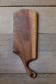 116. Medium Black Walnut Wood Handcrafted Cutting Board