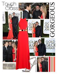 """2017 Golden Globe Awards~ Hilarie Burton"" by snugget9530 ❤ liked on Polyvore featuring Lauren Merkin and STELLA McCARTNEY"