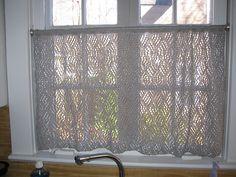 Knit curtains, free pattern