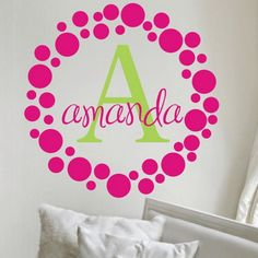 Girls Bedroom Ideas with Name Wall Stickers Boost up the Kids Bedroom Design