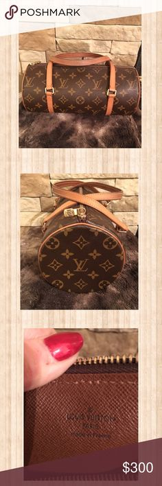 Authentic Louis Vuitton Pappilon 26 Authentic Louis Vuitton Pappilon 26, date code DU0096. This is a classic, iconic style.  This bag has been loved & well taken care of. The handles are showing wear as you can see in the pictures.  Overall the patina is very nice. There are no stains inside or out. The hardware is in good condition. Comes from a smoke free home. I am making an additional listing for pictures. Please let me know if you have any questions before purchase, no trades please…