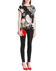 Ted Baker - Aug 2014 - Wax finish skinny denim - Black | Jeans | Ted Baker UK http://www.tedbaker.com/uk/Womens/Clothing/Jeans/ANNNA-Wax-finish-skinny-denim-Black/p/111987-00-BLACK