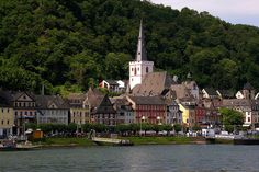 St. Goar, Germany, Rhine River Valley. This is where we had to get off out cruise because of flooding!