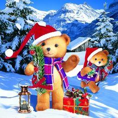3735 Servilleta decorada Navidad