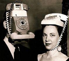 Frightening Halloween costumes of yesteryear: HUMAN-PHONE HYBRIDS!