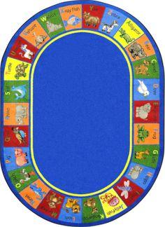 Joy Carpets Kid Essentials Early Childhood Oval Animal Phonics Rug, Multicolored, x Phonetic Sounds, Kid Essentials, School Furniture, Rugs On Carpet, Carpets, Early Learning, Phonics, Early Childhood, Geometric Shapes