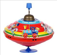 1970's toys | Chad Valley Tinplate Spinning Top 1970's