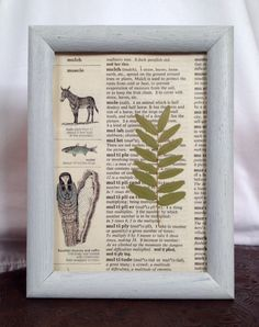 Set of 3 Framed Ferns by TheCraftedButterfly on Etsy